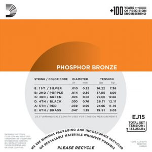 daddario ej15 phosphor bronze extra light 10-47