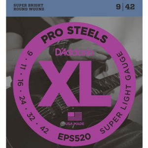 daddario eps520 prosteels super light 9-42