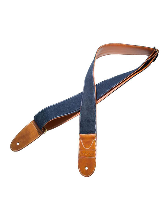 fade in original denim guitar strap